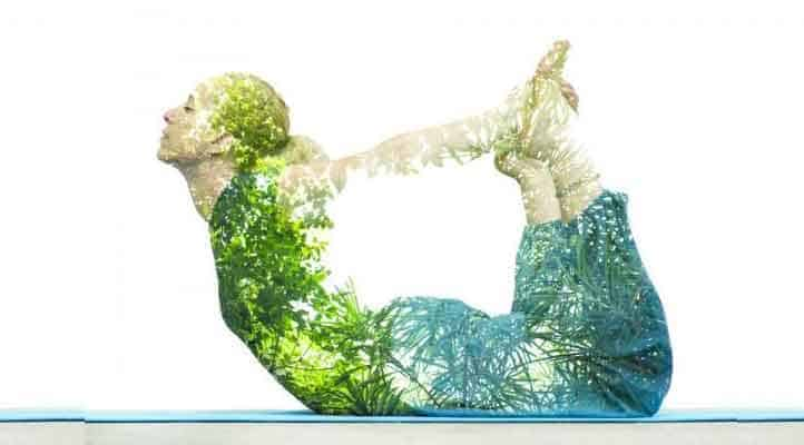Graphic of a woman doing yoga pose