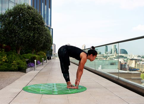 Woman stretching outdoor