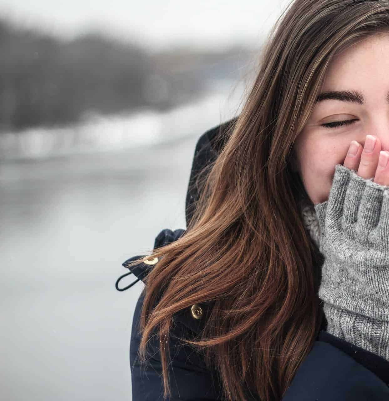 Woman at outdoor during winter