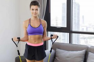 Health Constitution_Resistance Band Exercises with a Portable Home Gym